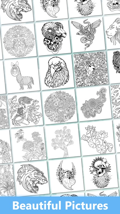 Secret Coloring Book - Free Anxiety Stress Relief & Color Therapy Pages for Adult