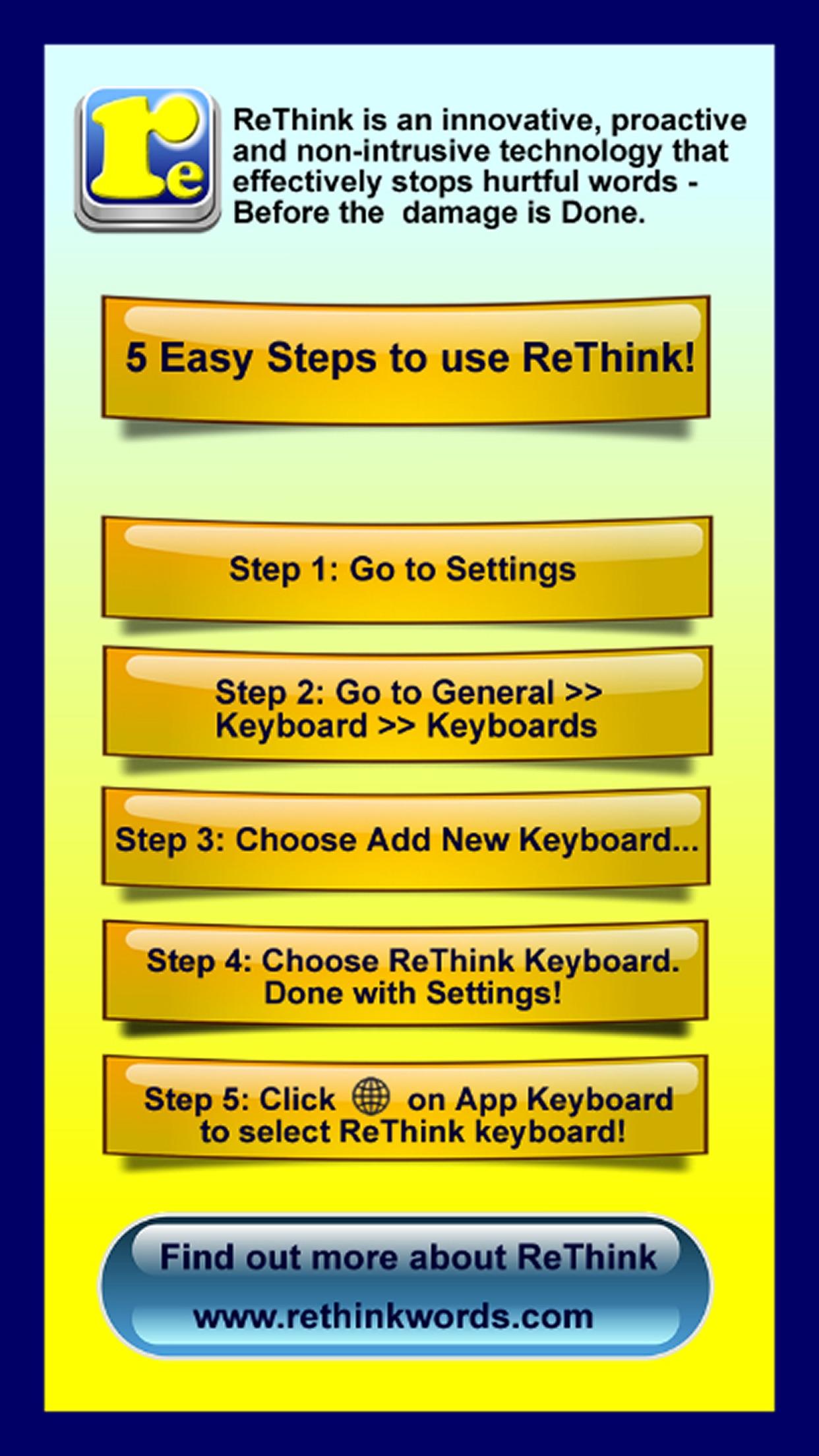 ReThink - Stop Cyberbullying Screenshot