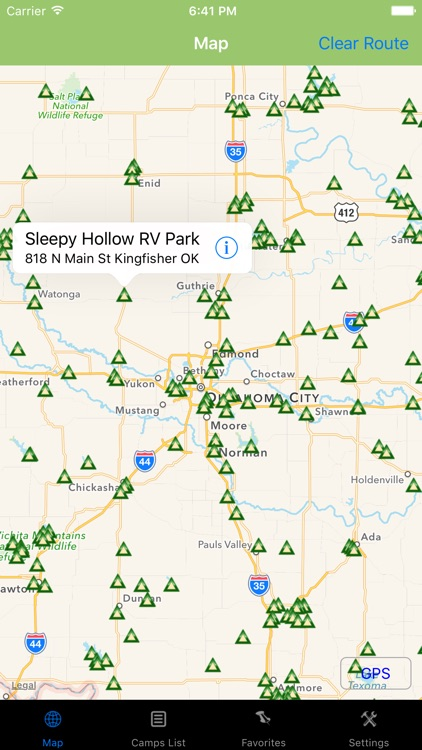 Oklahoma – Camping & RV spots