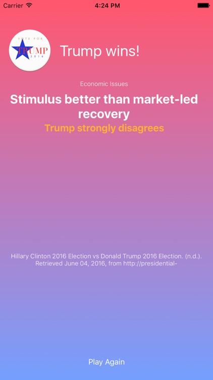 Tic Tac Toe 2016 General Election Edition Hillary Clinton vs Donald Trump screenshot-3