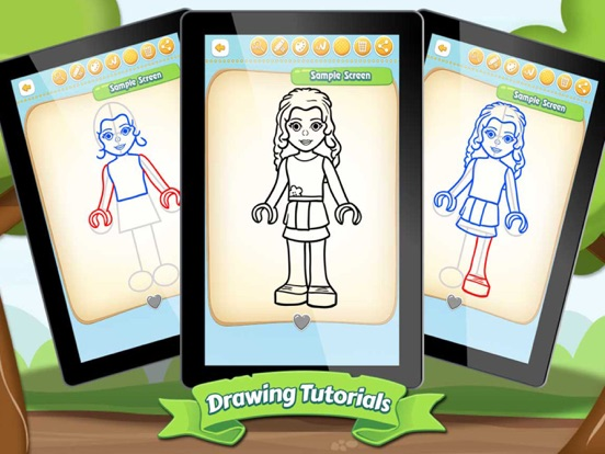 Screenshot #1 For Easy Draw Lego Friends Edition ...