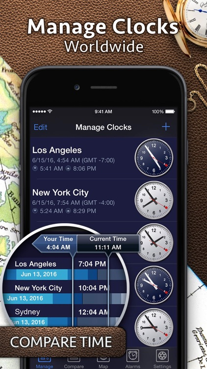 World Clock Pro - Worldwide Clocks screenshot-1