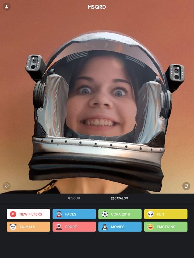 MSQRD — Filtri in tempo reale per video selfie Screenshot