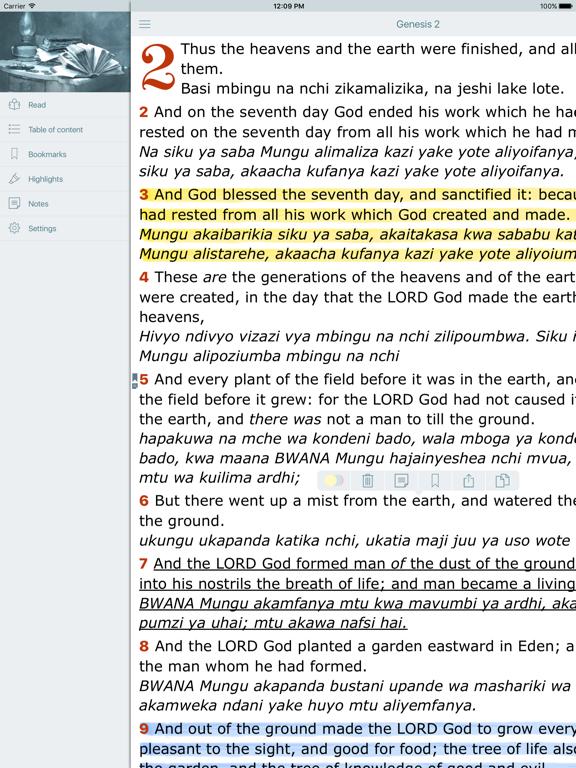 Swahili English Bilingual Bible Biblia Takatifu King James Bible Version App Price Drops