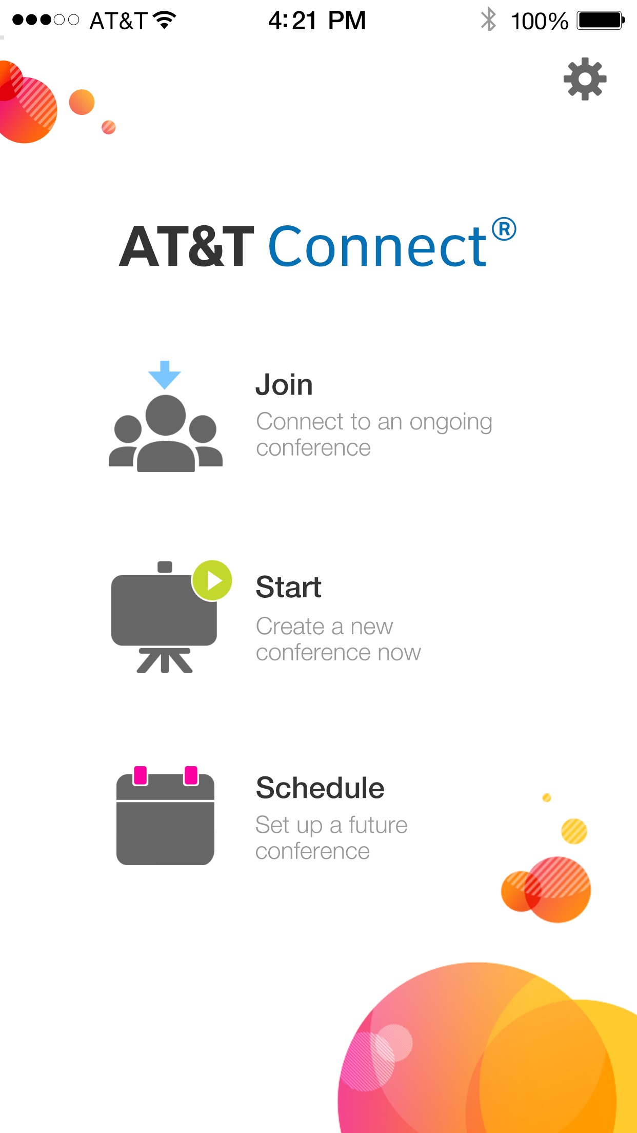 AT&T Connect Mobile Screenshot