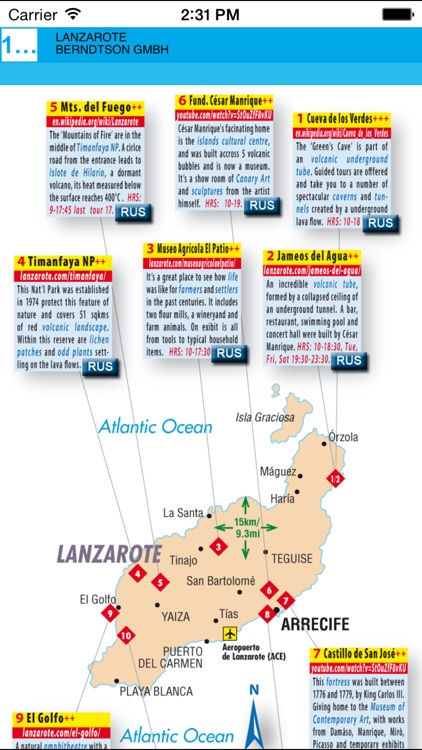 Lanzarote. Road map screenshot-3