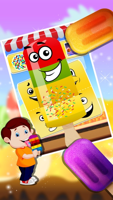 Ice Candy Maker – Make icy & fruity Popsicle in this cooking chef game screenshot two