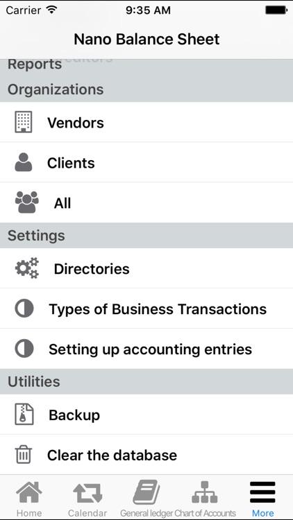 Nano Balance Sheet - General Ledger screenshot-3