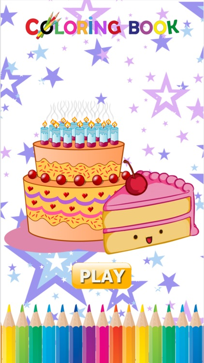 Cake Happy Birthday Coloring Book Educational Learning Games For