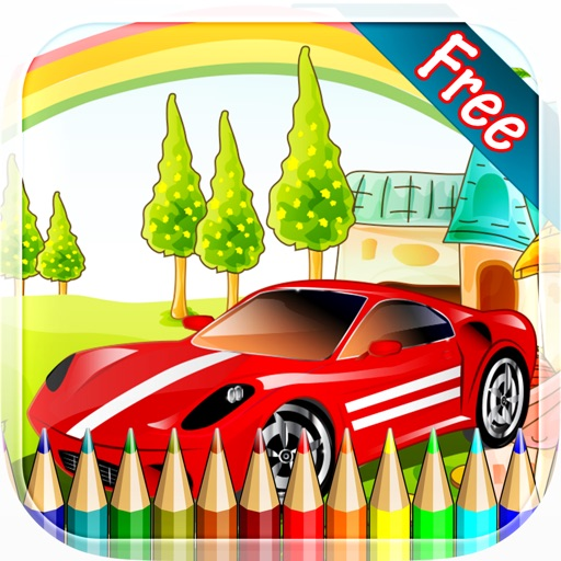 Sports Car Coloring Book All In 1 Vehicle Drawing And Painting