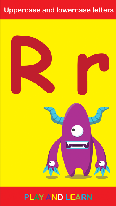 ABC Monster School write and read for toddlers homeschooling screenshot four