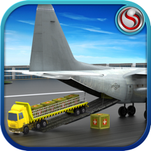 Cargo Plane Airport Truck - Transporter Driver to Deliver Freight to Airplane Flight