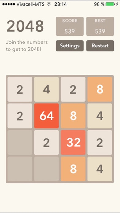 2048 Plus (Fibonacci, themes, sizes) screenshot one
