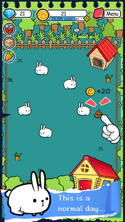 Rabbit Evolution | Tap Coins of the Crazy Mutant Poop Clicker Game