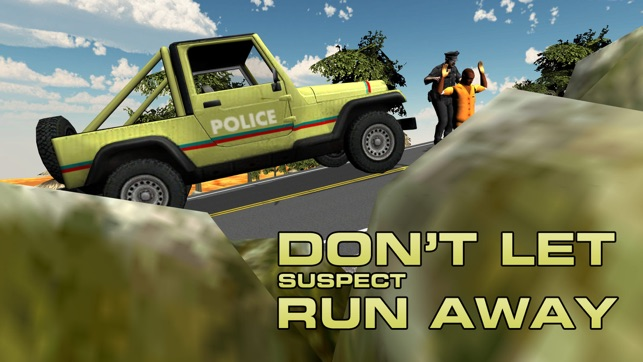 Offroad cảnh sát 4x4 Jeep - đuổi và bắt giữ tên cướp trong cop xe lái xe trò chơi này