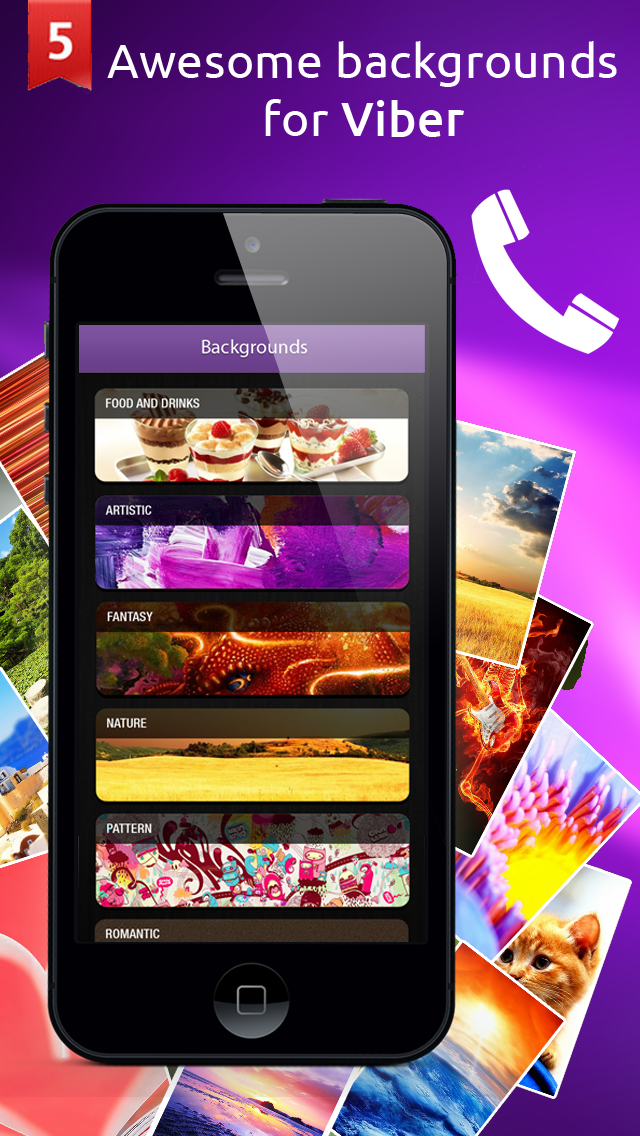 Wallpapers and Backgrounds for Viber & WhatsApp 1