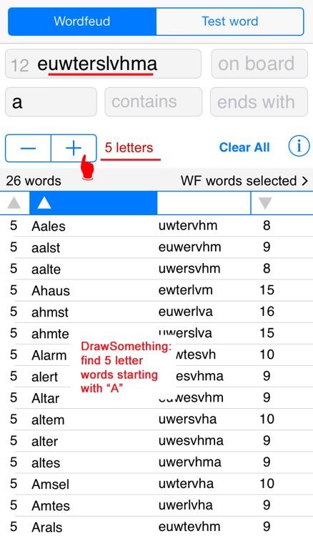 Words Finder Wordfeud Deutsch/German - find the best words for Wordfeud, crossword and cryptogram screenshot-3