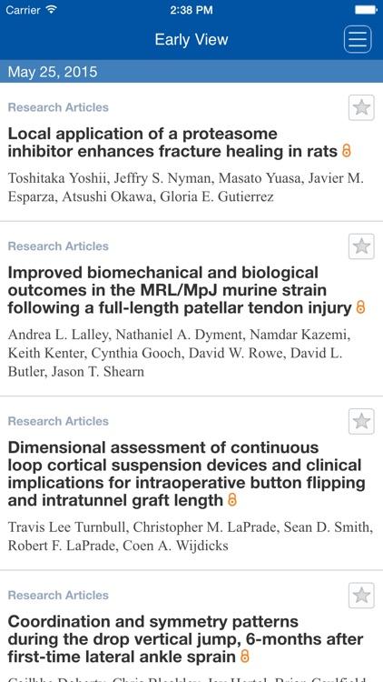 The Journal of Orthopaedic Research screenshot-4