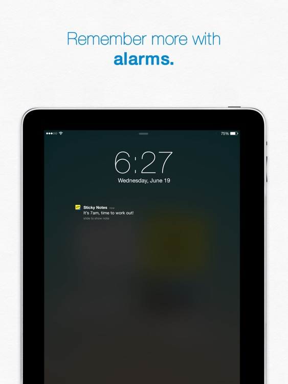 Sticky Notes iPad - Reminders & Notes App - with Alarms and Sharing screenshot-3