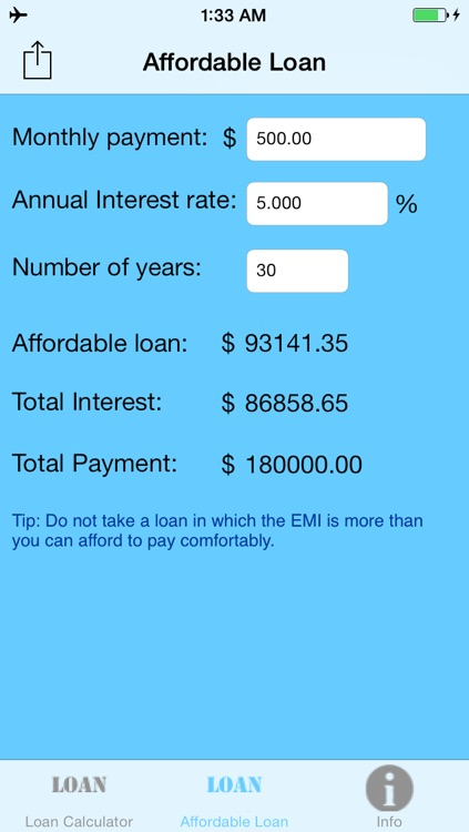Simple Loan Calculator screenshot-3