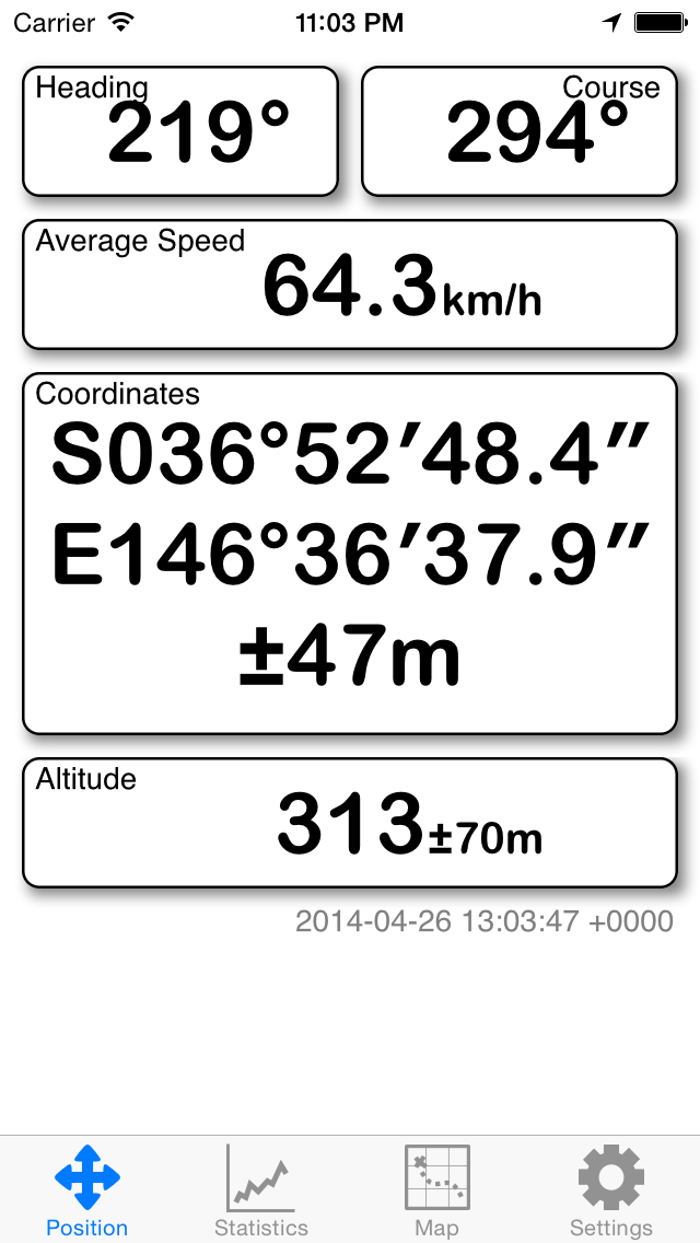 GPS screenshot one