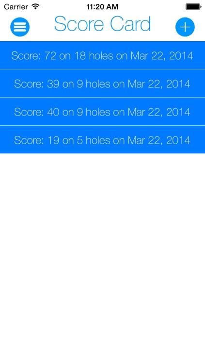 Score Card: Digitalize Your Golf Score screenshot-4