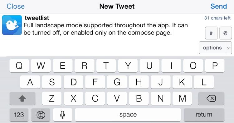 TweetList 4 for Twitter screenshot-4
