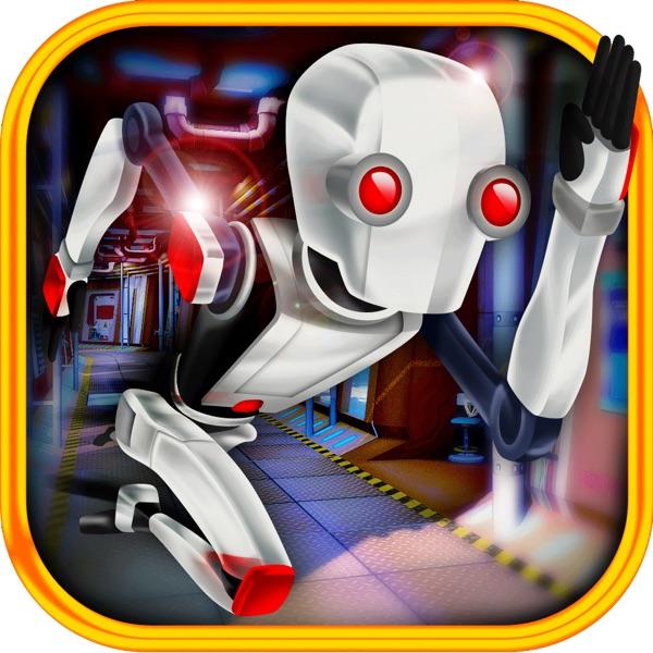 3D Scifi Robot Fast Running Battlefield