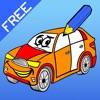 塗り絵の本 子供のための車:レーシングカー、バス、トラクター、トラックなどのような多くの写真とともに。絵を描画する方法:学習するゲーム