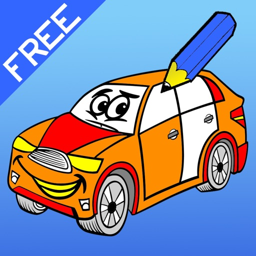 Coloring Book of Cars for Children: Learn to color a racing car, SUV, tractor, truck and more iOS App