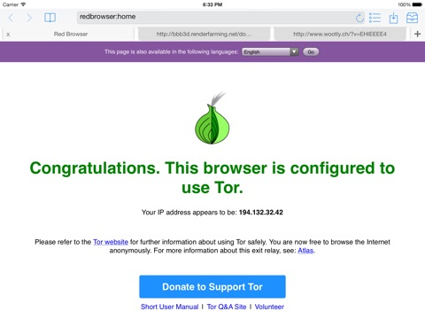 Red Onion - Tor-powered web browser for anonymous browsing and darknet iPad