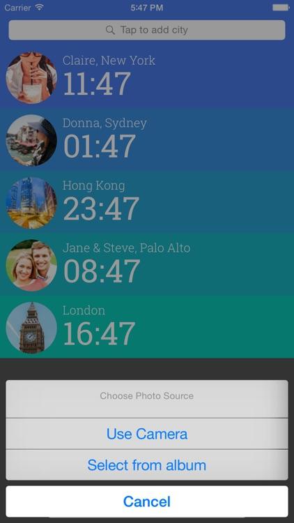Friendly Clocks - Time Zones for Friends in Just 1 Swipe screenshot-4