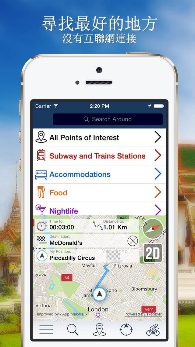 泰國離線地圖+城市指南導航,旅遊和運輸屏幕截圖2