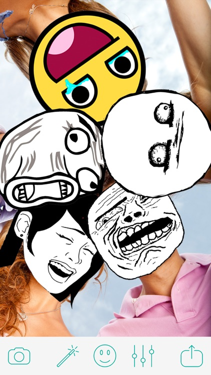 Troll Face Camera - Funny Pics Photo Editor for ProCamera SimplyHDR