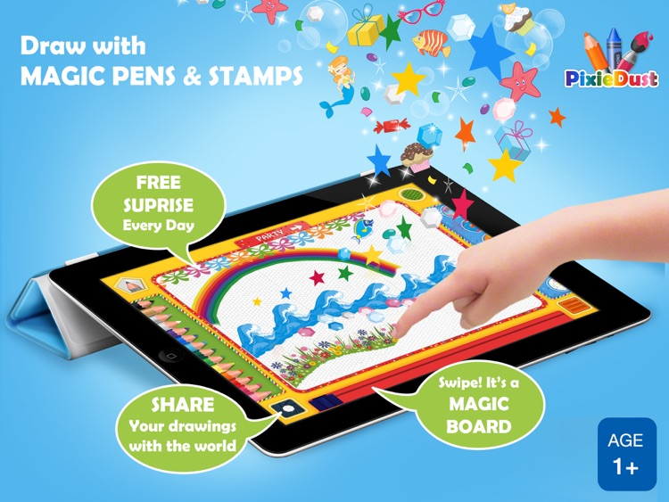 PixieDust Lite - A Creative Drawing and Painting App for Kids, Free for iPad