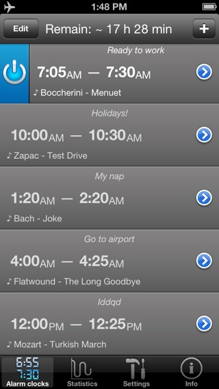 Absalt EasyWakeup Classic - smart alarm clock (easy wake up) Screenshot