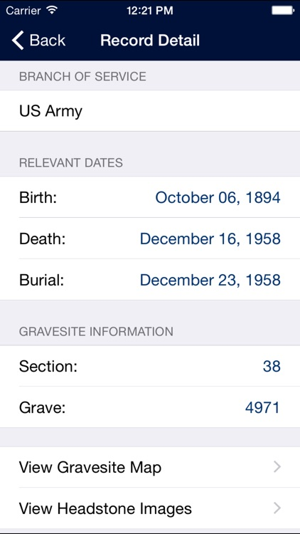 ANC Grave Locator screenshot-2