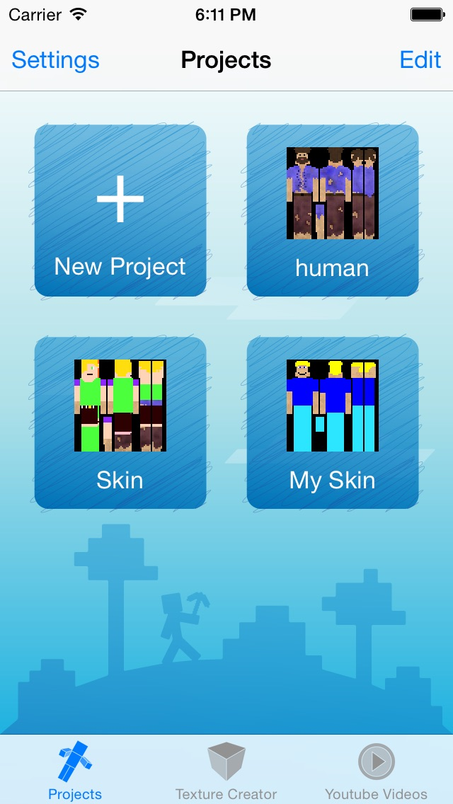 Skin Creator Pro Editor for Survivalcraft Textures Game Skins Screenshot