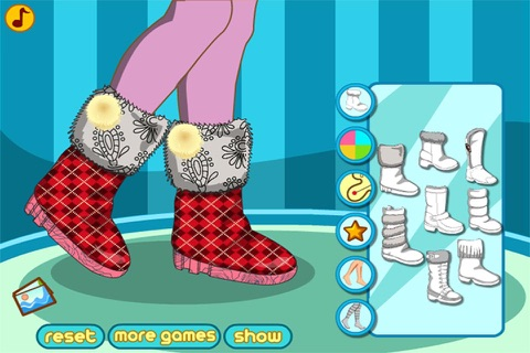 Winter Boots Decor : Shoes Design And Makeover screenshot 2