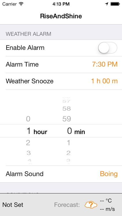 RiseAndShine - Weather Alarm Clock screenshot-2