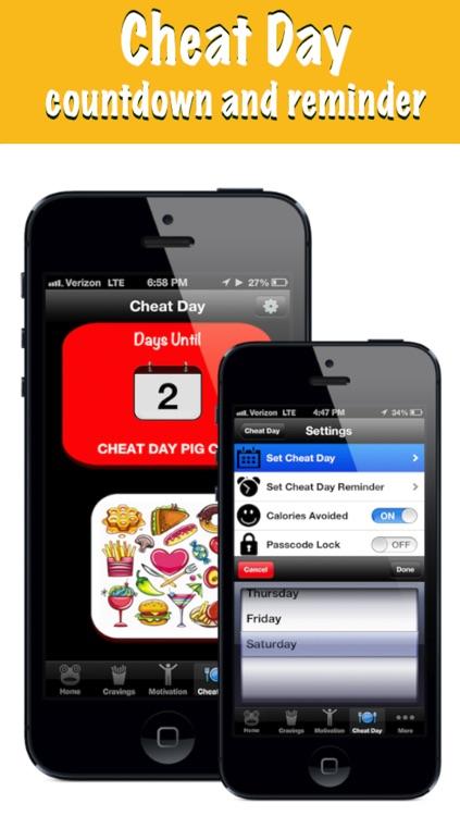 Diet Buddy Weight Loss: Cheat Day Calorie & Nutrition Tracker! screenshot-3