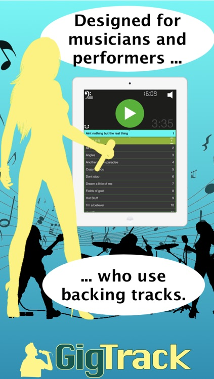 Backing Track Player for Gigging and Rehearsing Musicians - Gig Track by  David MacDougall