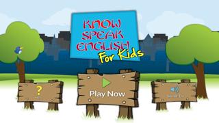 Know Speak English for Kids Free screenshot one