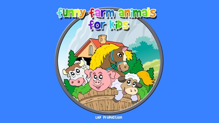 funny farm animals for kids - free game screenshot-0