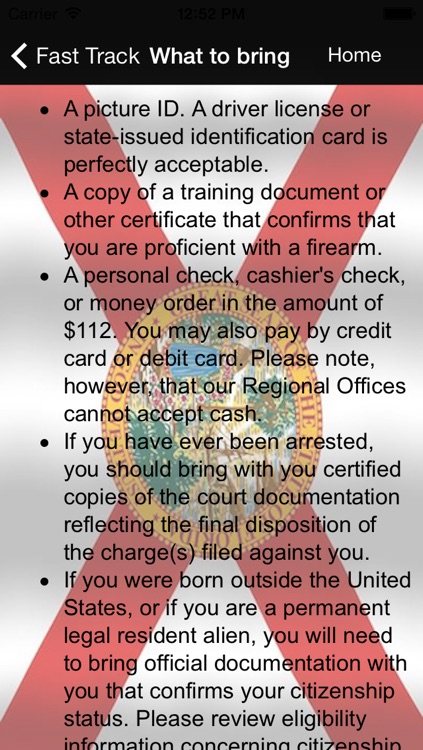 Concealed Carry Florida ( CCW FL ) Eligiblity,Application,Laws screenshot-3