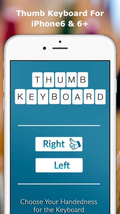Thumb Keyboard - Single Thumb Keyboard to easy typing