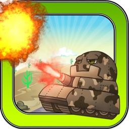 Tiny Tank Battle Warfare Games - War Tanks Gunner Game