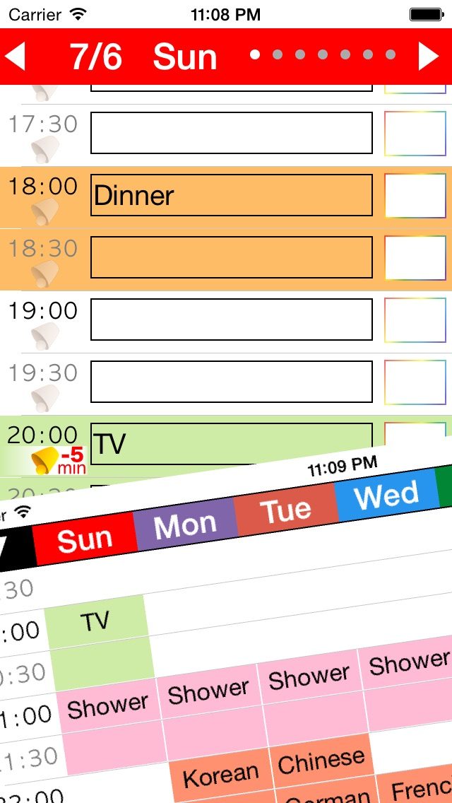 week table free weekly schedule planner timetable time