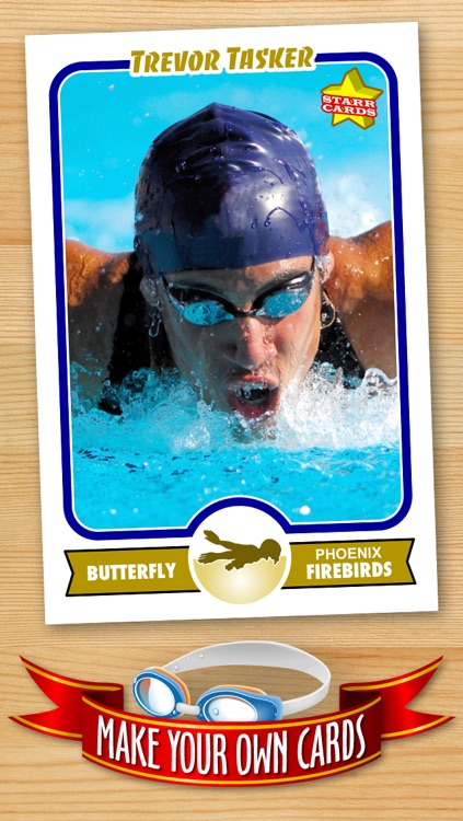 Swimming Card Maker - Make Your Own Custom Swimming Cards with Starr Cards