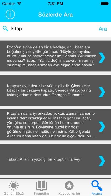 ÜNLÜ ÖZLÜ GÜZEL FELSEFİ SÖZLER - 1578 ADET screenshot-3